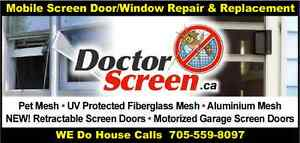 Patio screen door and window repair and replacement