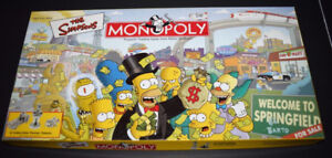 The Simpsons Monopoly Used