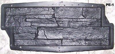 Gießformen für Beton Gips Wand - Klinker 1 m2 Schieferstruktur 10 Formen