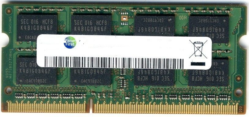 RAM MEMORIA 2GB 2Rx8 PC3-8500S 1066MHz DDR3 SODIMM NOTEBOOK PORTATILE LAPTOP