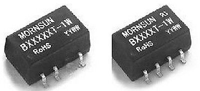 Qty 5 Mornsun B1205t-1w Dcdc Converter 12v In 5v Isolated Out 1w