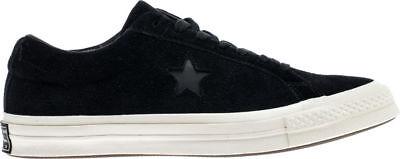 Converse One Star Ox Men's Size 11 Shoes Suede Black/Egret 158477C (NEW)
