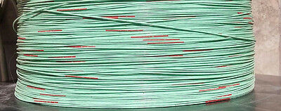 100 Ft 5m2873-22 Green Wire 22 Awg 22 Teflon 600v Silver Plated Aerospace 100ft