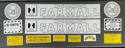 Ih Mccormick Farmall - Circle Cub - Complete Decal Set For Tractor