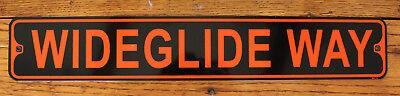 Harley Davidson Room Decor (Metal Street Sign Wideglide Way Harley Davidson Dynaglide Biker Bar Decor)