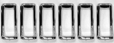 NEW 1967 Ford Mustang Tail Light Bezel Chrome Full Set of 6 With Gaskets & Studs - Tail Light Bezel Set