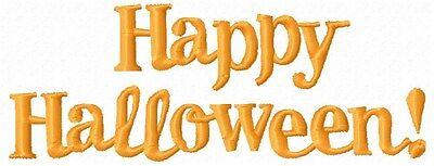 Happy Halloween 9 Machine Embroidery Designs with 4 Pumpkin Appliques n 2 sizes