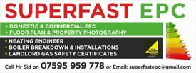 EPC COMMERCIAL EPC GAS SAFETY CERTIFICATE BOILER INSTALLATION POWER FLUSH FLOOR PLAN