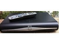 Sky plus hd box with accessories and remote