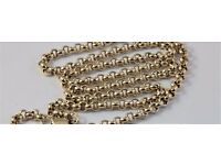 9ct Yellow Gold Solid Circle Link Chain 21,6 Inch 4,2mm Lovely & Heavy 31 grams unisex