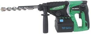 hitachi PERFORATEUR SDS 24MM BATTERIES 24 VOLTS 2.8 JOULES neuff