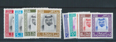 Middle East  1972 Qatar Quatar mnh stamp sets SG 402/410