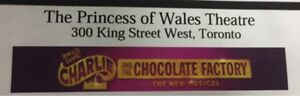 Charlie & the chocolate factory tickets