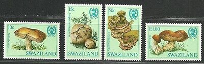 SWAZILAND 1981 VF MNH Stamps Scott# 457-460 CV 13.00 $ Mushrooms