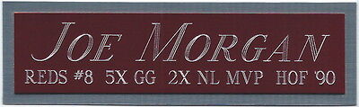 JOE MORGAN REDS NAMEPLATE AUTOGRAPHED SIGNED BASEBALL-BAT-JERSEY-PHOTO-HELMET