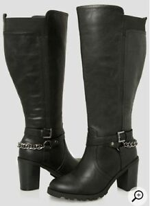 Ashley Stewart Extra Wide Calf, Knee High Boots Size 10