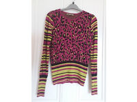 New Biba Animal Print crew neck Jumper. Size 8