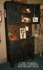 PRIMITIVE PINE  ANTIQUE CUPBOARD SIMILAR TO PICTURES,