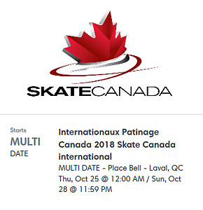 2018 Skate Canada International - one All event tickets