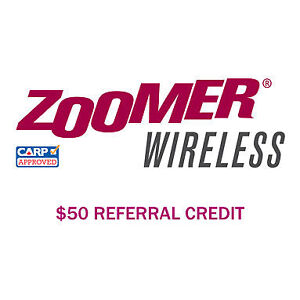 Free Zoomer Wireless $50 Referral credit