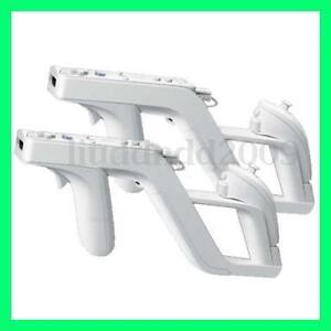 2x Zapper Gun Pistole Gewehr Waffe für Nintendo Wii Remote Nunchuck Controller