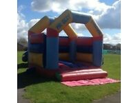 Full size bouncy castle set up/ business for sale