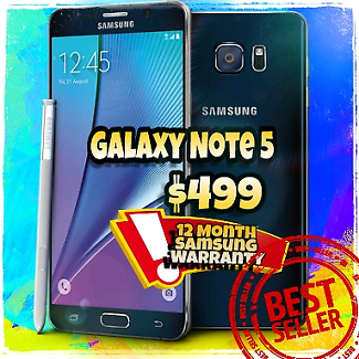 Flawless Samsung Galaxy Note 5 with warranty accessory & extras