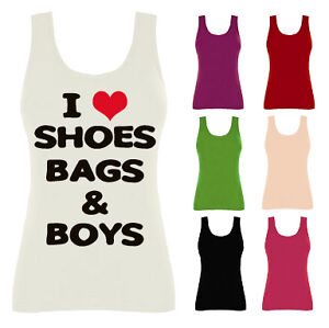I-Love-Heart-Shoes-Bags-and-Boys-Womens-Vest-Tank-Top-NEW-UK-8-14