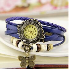 VINTAGE BRACELET LADIES WRIST WATCH - BLUE