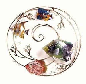 Fish in a Swirl Metal Wall Art for your Patio