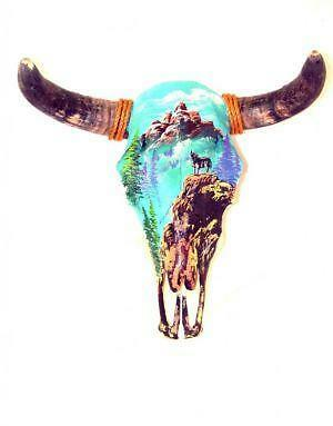 Painted Cow Skulls Ebay
