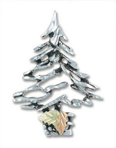 silver christmas tree pins