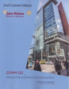 COMM 225 Second Edition - Project Operations Management