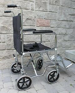 Temco Transport folding foldable Wheelchair 16 inch wheel chair