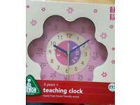 ELC Pink teaching clock