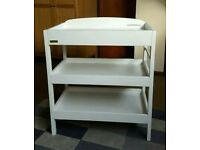 East coast baby changing table shelves