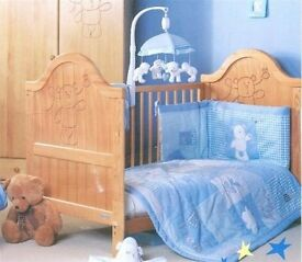 Mothercare Teddy Bear changable Cot/bed