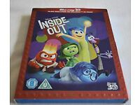 Inside out 3D + 2D BLU-RAYS (NEW sealed)