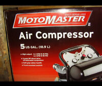 NEW - Motomaster 5 gal air compressor