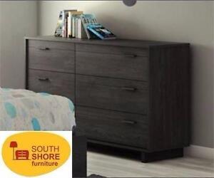 "NEW* SOUTH SHORE 6-DRAWER DRESSER BLACK - WOOD - 53.3""x32.3""x16.5"" HOME BEDROOM FURNITURE WARDROBE 99221131"