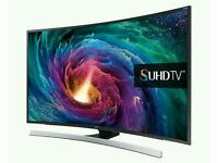 """Samsung 55"""" SUHD Super 4K JS8500 8 Series Curved Smart Wi-Fi 3D tv comes with media box and"""