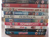 10 DVD bundle including romantic comedies