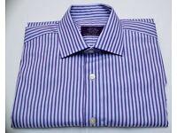 Men's Savoy Taylors guild size 15.5 regular fit lylac/purple shirt