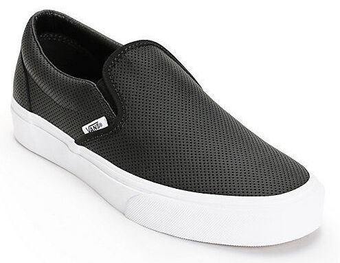 white vans slip ons with lace on top