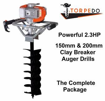 TORPEDO 52cc POST HOLE DIGGER EARTH AUGER FENCE POSTHOLE DRILL
