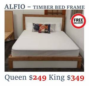 NEW TIMBER/LEATHER BEDS From $249 ONLY   ALL SIZES/FREE DELIVERY Archerfield Brisbane South West Preview