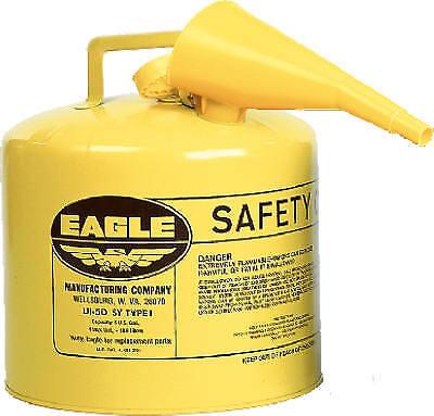 Eagle Mfg Ui-50-fsy Safety Diesel Gas Can Yellow Type I 5-gal.