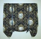 Waverly Toile Curtain Black
