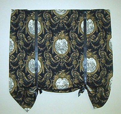 Waverly Toile Curtain Black Ebay
