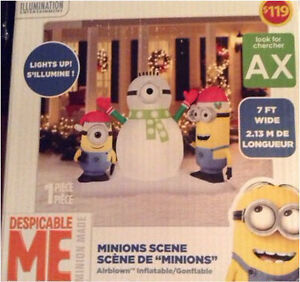 Minion Inflatable Christmas Scene Brand New in box